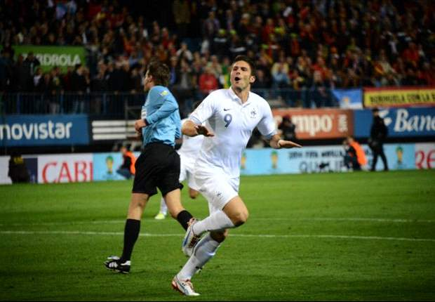 Giroud stuns Spain as France youngsters put Nasri & Euro 2012 flops to shame