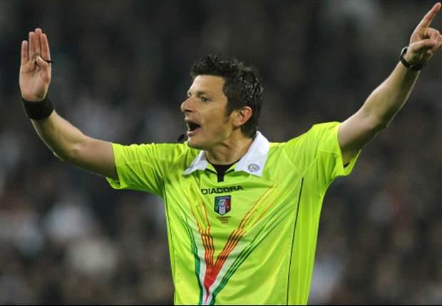 """E' l'arbitro Damato l'anti-Napoli, parola di Bigon: """"Con lui non abbiamo fortuna...si è sentito dalla panchina il calcione a Cavani"""""""