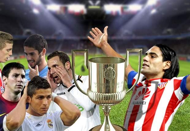 Radamel Falcao, Cristiano Ronaldo, Lionel Messi y una batalla estratosférica por la Copa del Rey