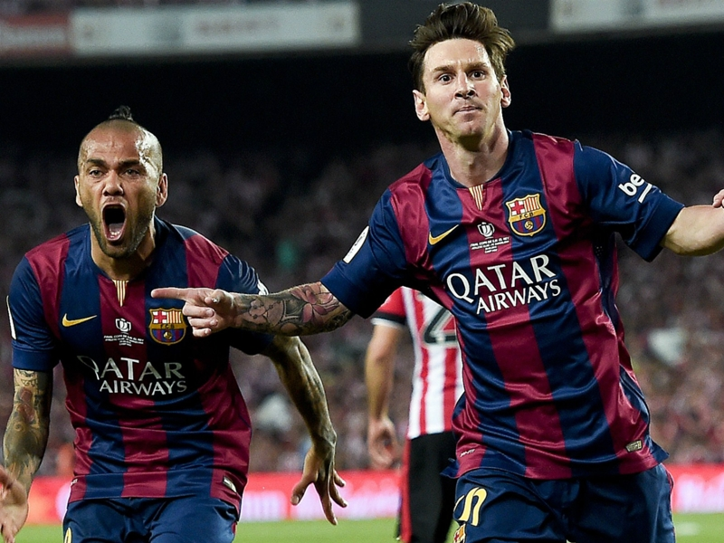 'Nooooooo!!!' - Alves laments losing Messi assists record