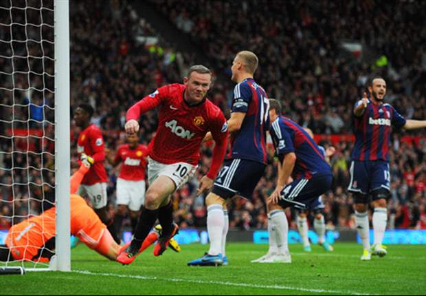 Manchester United 4-2 Stoke City: Rooney recovers from own goal to fire hosts to victory