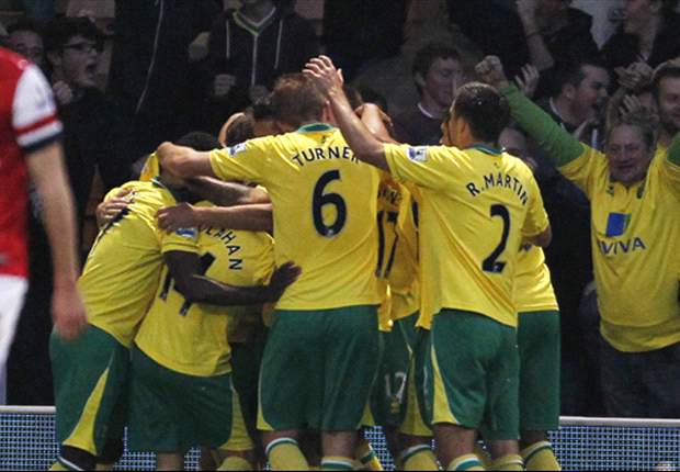 Norwich City 1-0 Arsenal: Holt winner leaves blunt Gunners 10 points off title pace