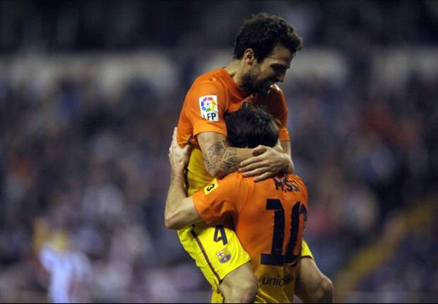 Fabregas happy with position in the center of the Barcelona team