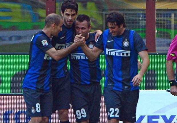 Inter Mailand bleibt dran - Cassano und Palacio treffen gegen Catania