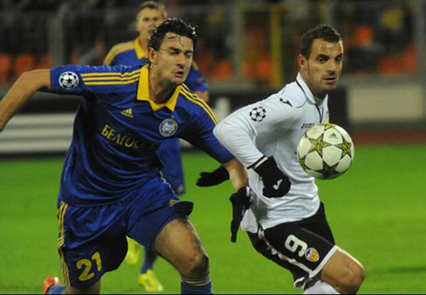 BATE Borisov 0-3 Valencia: Soldado hat-trick earns superb away victory