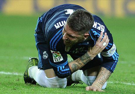 Ramos podría perderse hasta ocho partidos