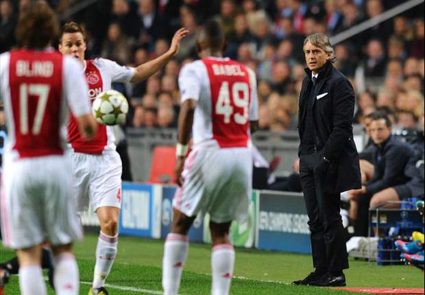 Ajax clash is 'last chance' for Manchester City, says Mancini
