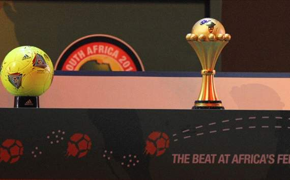 Afcon trophy and official ball