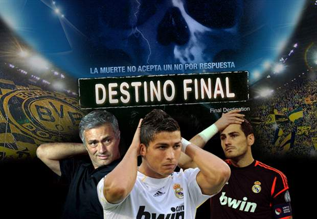 Cristiano Ronaldo, José Mourinho e Iker Casillas sufren el Destino Final del Real Madrid en Alemania
