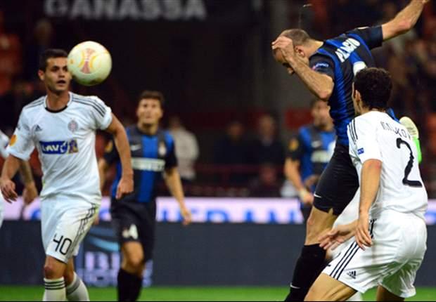 Inter de Milán 1-0 Partizan de Belgrado: Palacio da el triunfo a un pobre Inter