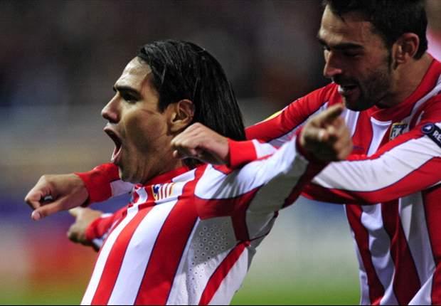 Atlético de Madrid 3-1 Osasuna: Radamel Falcao sigue aguantando el pulso del Barcelona