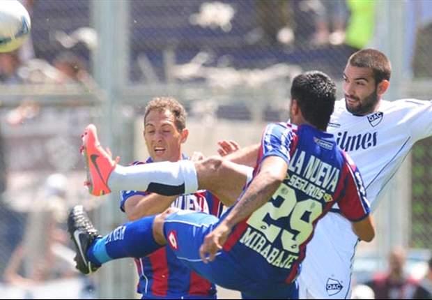 En el alargue, Quilmes le arrebató 2 puntos a San Lorenzo