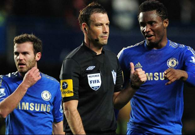 Mata: I did not hear Clattenburg say anything
