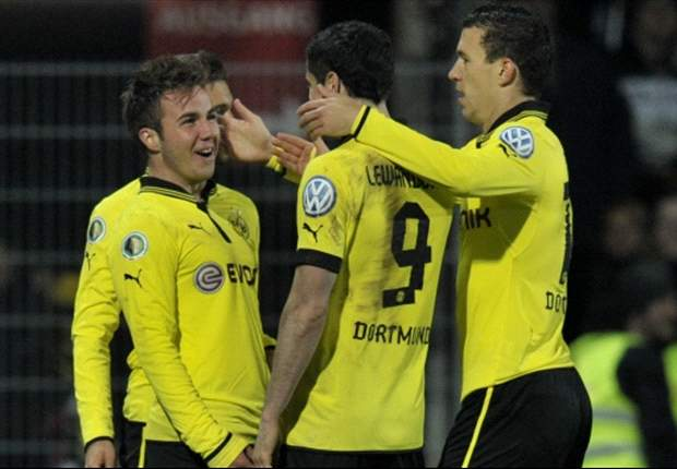 Aalen 1-4 Borussia Dortmund: Gotze on target as visitors score easy victory