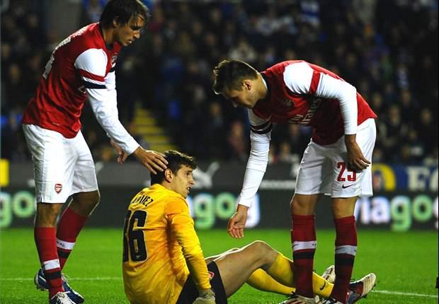 Em jogo histórico e de 12 gols, Arsenal vence o Reading na prorrogação