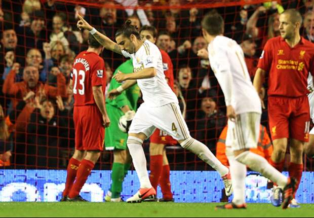 Liverpool 1-3 Swansea City: Suarez strike not enough as holders crash out