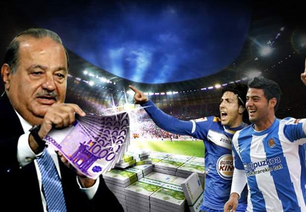 Carlos Slim irrumpe con fuerza en el fútbol español