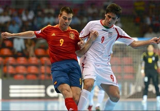 Piala Dunia Futsal: Iran Tahan Spanyol, Italia Pesta Gol