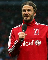 Beckham punishes Arsenal-supporting son... by getting him to sing a Tottenham chant