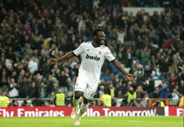 TEAM NEWS: Michael Essien starts for Real Madrid against Celta