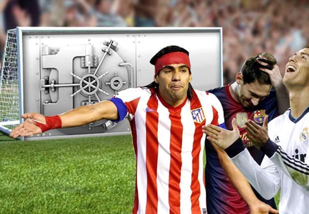 Radamel Falcao, Cristiano Ronaldo y Leo Messi, ninguno marca ante una portería sellada