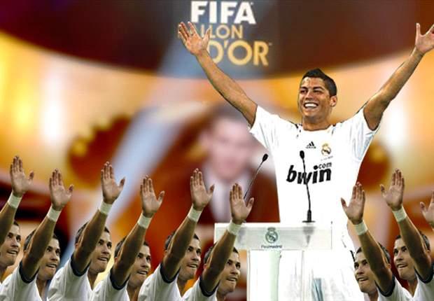 Cristiano Ronaldo se vota a sí mismo para ganar el Balón de Oro