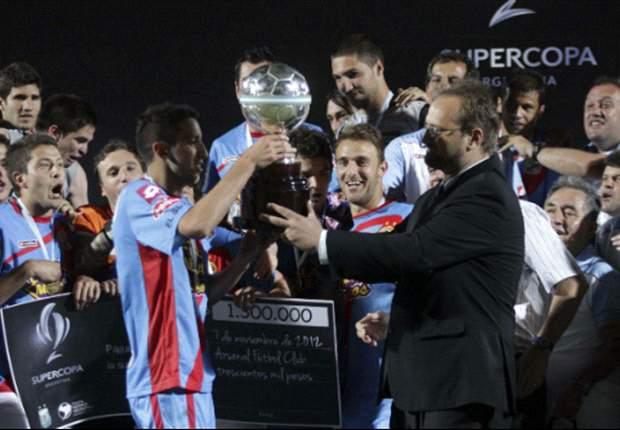 La Supercopa Argentina que obtuvo Arsenal en 2012 fue el torneo más reciente que se ha revalidado.