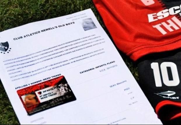 Filho de Messi ganha carteirinha de sócio no Newell's