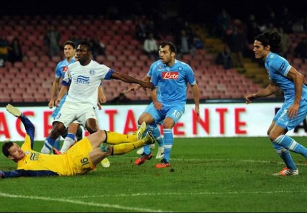 Napoli-Dnipro 4-2: Gli azzurri si aggrappano a 'San Cavani': poker del Matador e festa al San Paolo