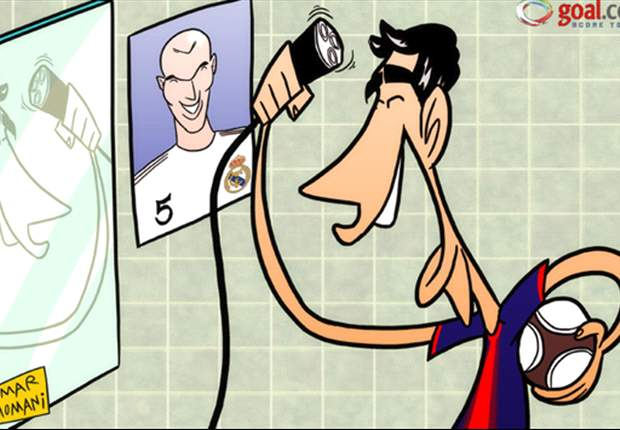 El fotomontaje del dia: Cesc Fábregas trata de parecerse a su ídolo, Zinedine Zidane