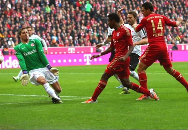 Bayern Munich 2-0 Eintracht Frankfurt: Ribery and Alaba on target as leaders maintain momentum