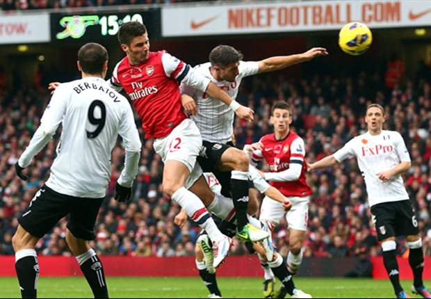 Arsenal buoyed by Giroud progress but Frenchman still lacks Berbatov's swagger