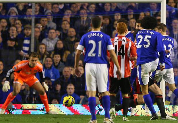Everton 2-1 Sunderland: Fellaini and Jelavic complete comeback to keep Toffees in top four