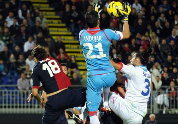 Cagliari y Catania aburrieron a todos con un empate sin goles