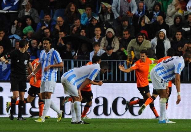 El Málaga siente en la Liga el desgaste de la Champions League (Análisis)