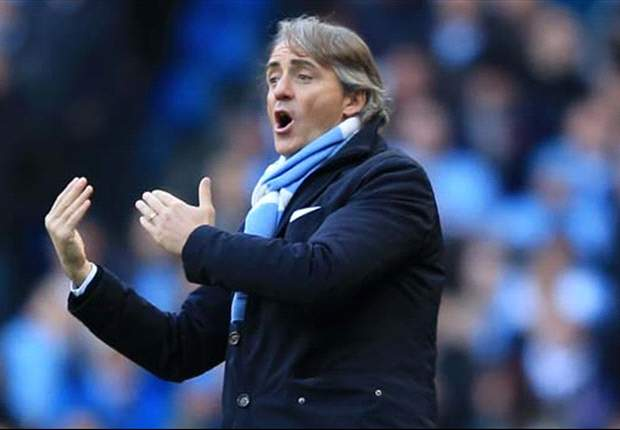 Mancini urges strikers to score more goals after Manchester City are held at Everton