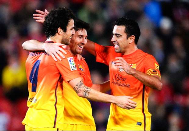 Mallorca 2-4 Barcelona: History-maker Messi steadies brittle Blaugrana