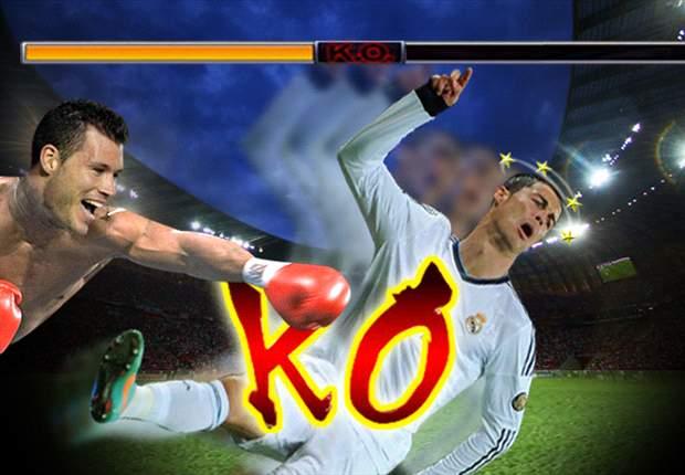 David Navarro se puso los guantes de boxeo y dejó KO a Cristiano Ronaldo