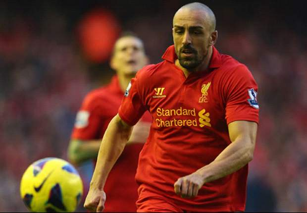 Liverpool full-back Jose Enrique dedicates goal to unborn son