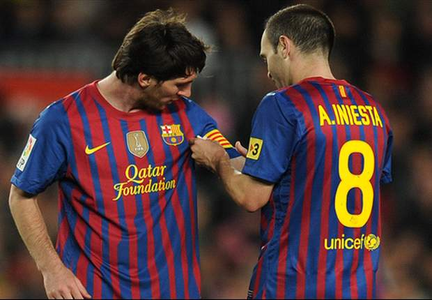 Messi: I'm lucky to play alongside Iniesta