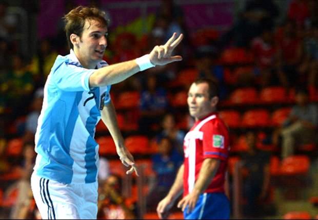 Argentina pasó a cuartos e irá contra Brasil en el Mundial de Futsal