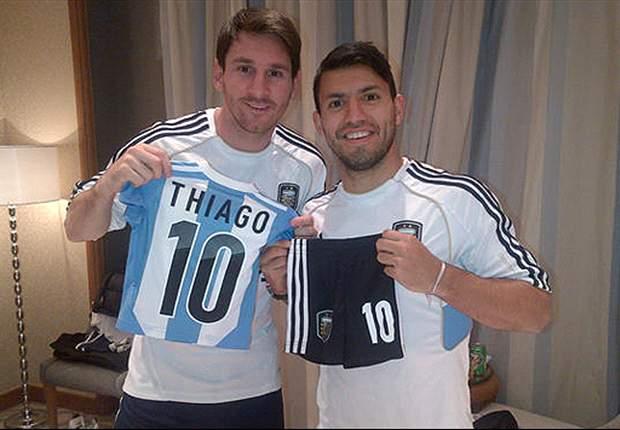 GAYA HIDUP: Sergio Aguero Beri Kado Untuk Thiago Messi