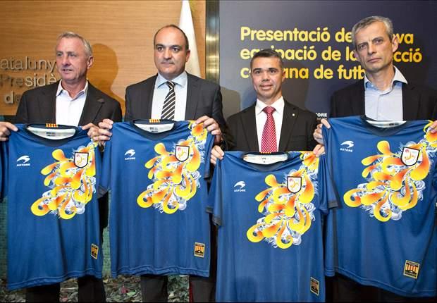 La Federación Catalana de Fútbol presenta su nueva camiseta