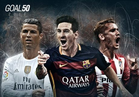 Las estrellas de La Liga en el Goal 50