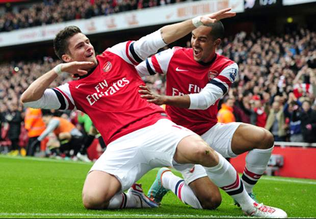 Arsenal 5-2 Tottenham: Giroud & Walcott punish 10-man Spurs to seal vital comeback win