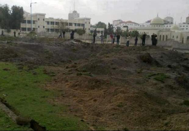 Gaza stadium hit by Israeli air attack