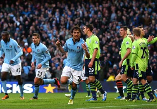 Manchester City 5-0 Aston Villa: Tevez & Aguero double up to pile pressure on hapless visitors
