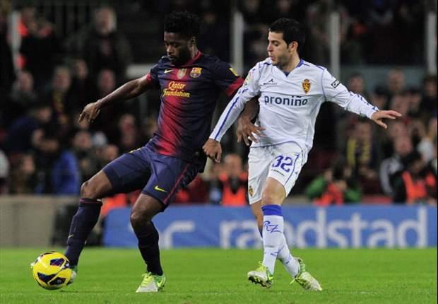 Alex Song consigue su primer gol con el Barcelona