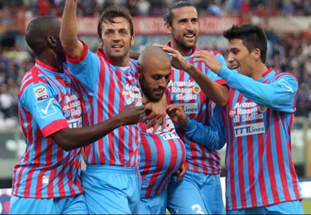 Almirón firma un doblete para el triunfo de Catania sobre Chievo Verona
