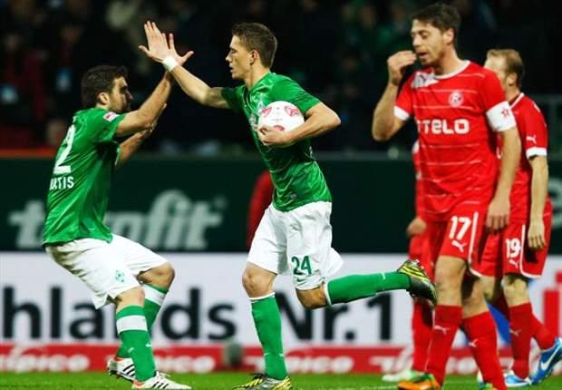 Sepuluh Pemain Werder Bremen Susah Payah Bekuk Fortuna Dusseldorf